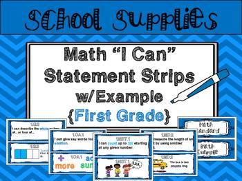 "Math ""I Can"" Statements {First Grade}"