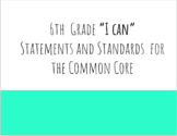 Math I Can Statements (Student Friendly Objectives and Standards)