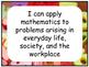 Math I Can Statements TEKS Kindergarten