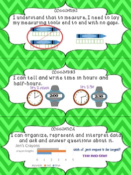 """Math """"I Can"""" Statements {first grade} {common core}"""
