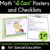 "Math ""I Can"" Statements for Common Core Essential Elements (First Grade)"