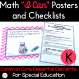 "Math ""I Can"" Statements for Common Core Essential Elements (Kindergarten)"