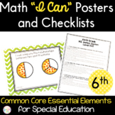 "Math ""I Can"" Statements for Common Core Essential Elements (sixth grade)"