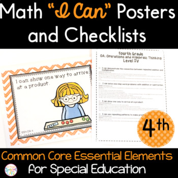 Math I Can Statements for Common Core Essential Elements (fourth grade)