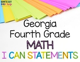 Math I Can Statements for Fourth Grade Georgia Standards of Excellence