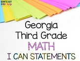 Math I Can Statements for Third Grade Georgia Standards of Excellence