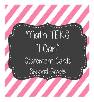 "Math ""I Can"" TEKS 2nd Grade"