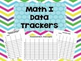 Math I Common Core Data Trackers