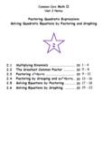 Math II - Factoring Quadratic Expressions Unit Notes (Unit 2)