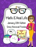 Math IS Real Life January FREEBIE - snow removal multi-ste