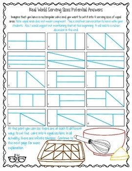 Math IS Real Life July FREEBIE - Real World Serving Sizes (geometric reasoning)
