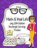 Math IS Real Life July FREEBIE - Real World Serving Sizes
