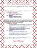 Math Ideas for Holiday Break 2014