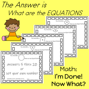 Math Centers  I'm Done! Now What?