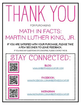 Math In Facts: Martin Luther King, Jr.