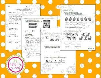 Math In Focus - 1st Grade -Test Reviews for Book A (Chapters 1-9) BUNDLE!
