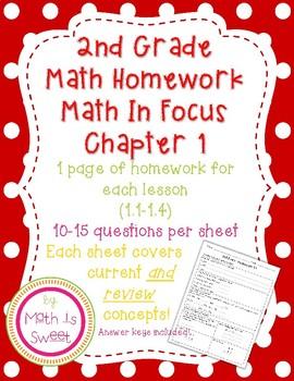 Math In Focus 2nd Grade Chapter 1 HOMEWORK!