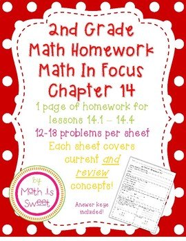 Math In Focus 2nd Grade Chapter 14 HOMEWORK!