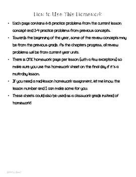 Math In Focus 2nd Grade Chapter 3 HOMEWORK!