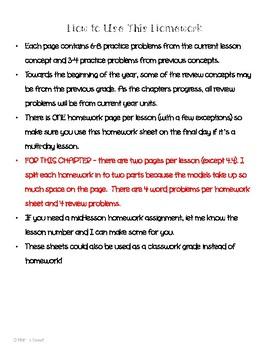 Math In Focus 2nd Grade Chapter 4 HOMEWORK!