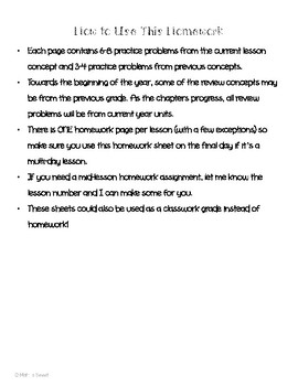 Math In Focus 2nd Grade Chapter 5 HOMEWORK!