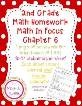 Math In Focus 2nd Grade Chapter 6 HOMEWORK!