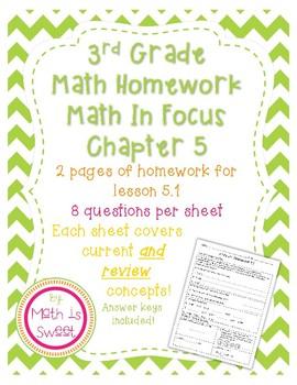 Math In Focus 3rd Grade Chapter 5 HOMEWORK!