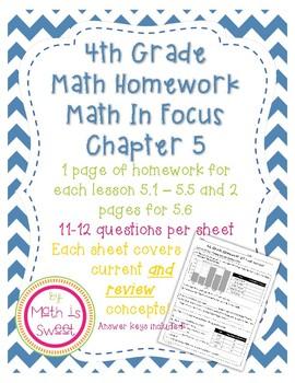 Math In Focus 4th Grade Chapter 5 HOMEWORK!