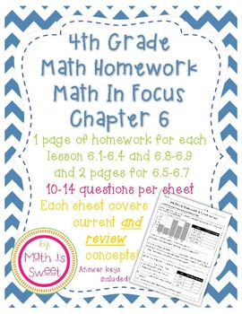 Math In Focus 4th Grade Chapter 6 HOMEWORK!