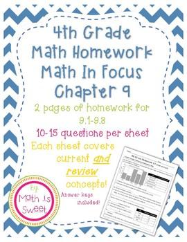 Math In Focus 4th Grade Chapter 9 HOMEWORK!