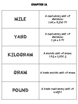 Math In Focus 4th Grade Flash Cards Chapter 12