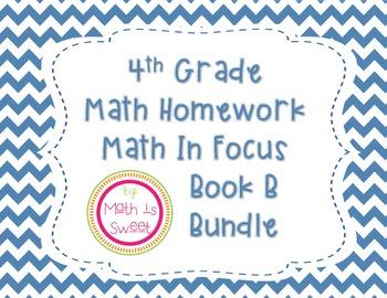 Math In Focus 4th Grade HOMEWORK Book B BUNDLE!