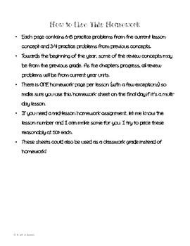 Math In Focus 4th Grade HOMEWORK FREEBIE!