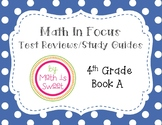 Math In Focus - 4th Grade -Test Reviews for Book A (Chapters 1-6 & BOY) BUNDLE!