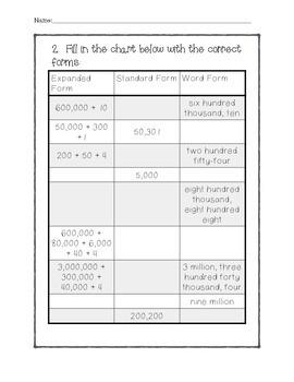 Math In Focus - 5th Grade Lesson 1.1 Quiz