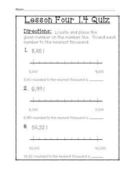 Math In Focus - 5th Grade Lesson 1.4 Quiz