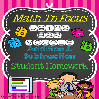 Math In Focus-Bar Models with Addition & Subtraction Story Problem Homework