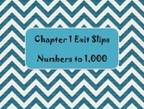 2nd Grade Math In Focus Chapter 1 Daily Exit Slips