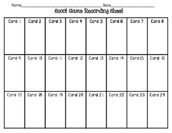 Math In Focus Chapter 2 Scoot Review Game