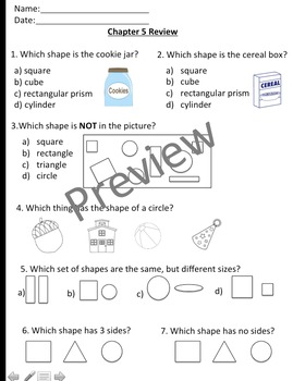 Math In Focus Chapter 5 Assessment Review