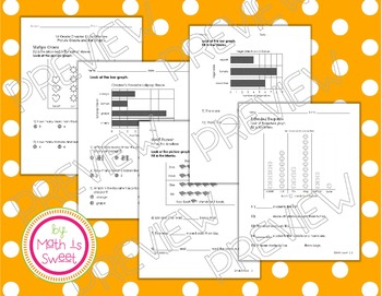 Math In Focus -Grade 1- Chapter 11 (Graphs) Review/Study Guide/Test