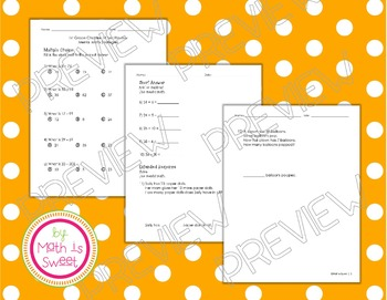 Math In Focus -Grade 1- Chapter 14 (Mental Math) Review/Study Guide/Test