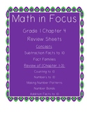 Math In Focus Grade 1 Chapter 4 Review Sheets