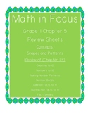 Math In Focus Grade 1 Chapter 5 Review Sheets