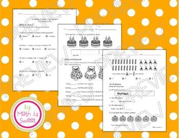 Math In Focus -Grade 1- Chapter 7 (Numbers to 20) Review/Study Guide/Test