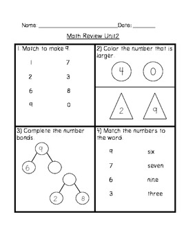 Math In Focus Grade 1 Chapter 2 Review Sheets