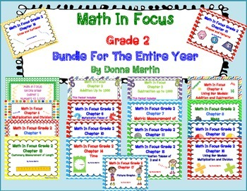 Math In Focus Grade 2, Bundle For Entire Year!