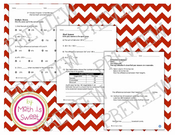 Math In Focus - Grade 2 - Chapter 10 (Mental Math and Estimation) Review/Test
