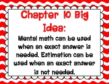 Math In Focus Grade 2, Chapter 10 Posters and Vocabulary Packet