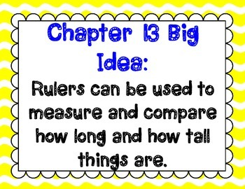 Math In Focus Grade 2, Chapter 13 Posters and Vocabulary Packet